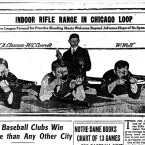 A 1918 Chicago Tribune article announces the opening of Commonwealth Edison's new shooting range. The business would go on to sponsor a city-wide rifle league where teams like The Edisons of the Chicago Gun Club, the City Hall Engineers and the Centennial R.C. Quintets would regularly play each other.