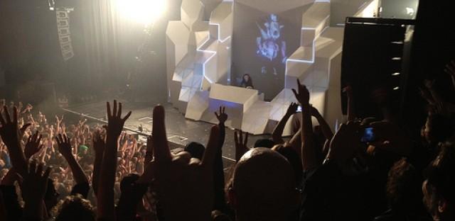 Skrillex performs live