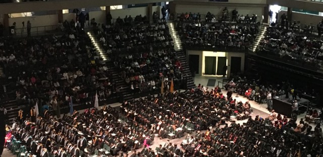 Chicago State University's commencement ceremony took place Thursday, April 28 -- weeks before it was originally scheduled. The school omitted spring break from their schedule to meet their cash-strapped needs and ensure students could finish the semester.