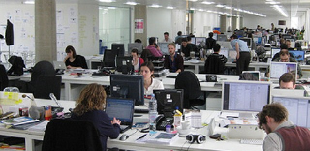 No cubicle walls can make workers less productive