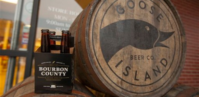 Goose Island Beer Company's limited Black Friday release of Bourbon County Brand Stout in Chicago.