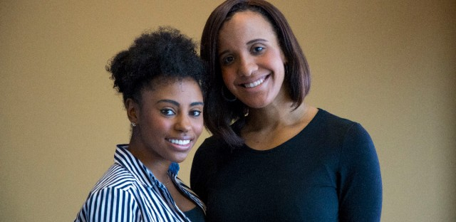 From left to right, Brittiney Jones and Alayna Washington, co-founders of Chicago Youth Opportunity Initiative