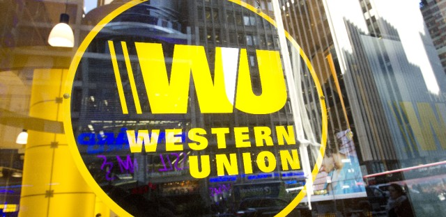 Western Union says the $586 million it will pay as part of a settlement will go to the federal government.