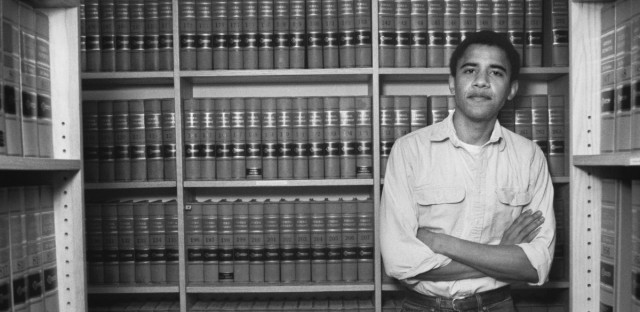 File image: Former President Barack Obama after he was named head of the Harvard Law Review in 1990. In Making Obama, a new six-part podcast from WBEZ, hear how Chicago shaped Obama's political ambitions.
