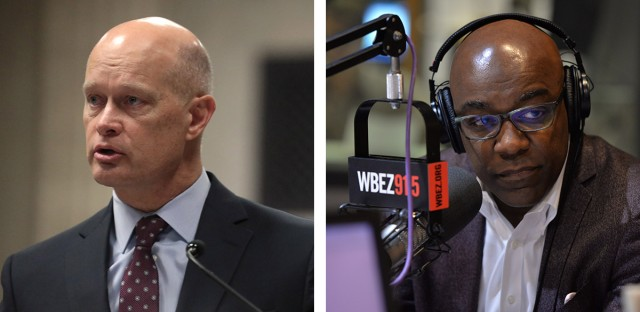 Special Prosecutor Joseph McMahon (left) on Feb. 4 spoke via phone for 45 minutes with Illinois Attorney General Kwame Raoul about possibilities for challenging the prison sentence of the former Chicago police officer convicted of murder in Laquan McDonald's killing — a sentence criticized by police-accountability advocates as too lenient.