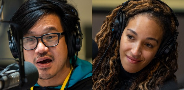 """Comedians Andew Ti and Tawny Newsome stopped by the Morning Shift on Wednesday to talk about their podcast, """"Yo Is This Racist?"""""""