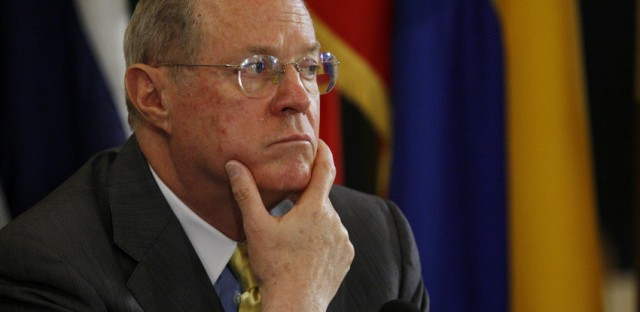 File: Supreme Court Justice Anthony Kennedy. Kennedy is considered the swing vote on Prop 8 case.