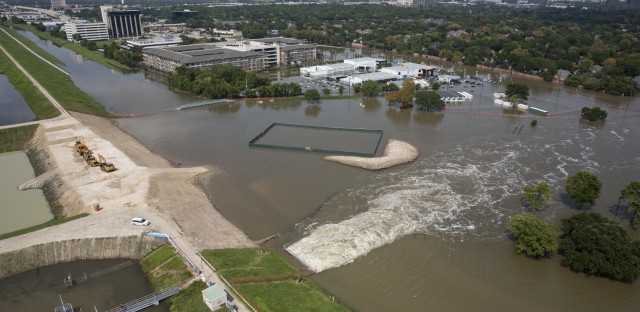 A controlled release of water from the Barker Reservoir is causing flooding on the west side of Houston.