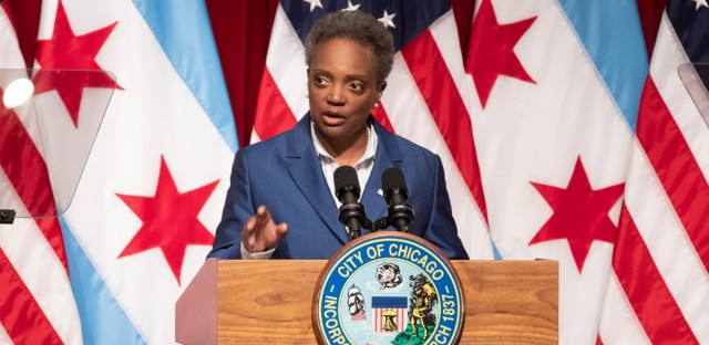 Chicago Mayor Lori Lightfoot outlined her plan for Chicago's budget gap last week at the Harold Washington Library. The mayor has proposed a much bigger budget for legal settlements for next year's budget.