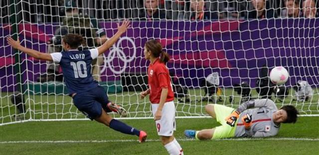 Carli Lloyd scores in the U.S. soccer win over Japan.