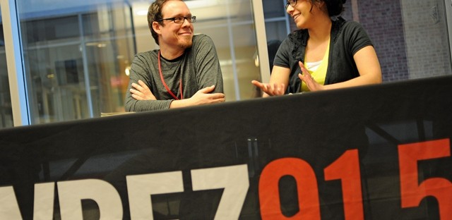 Curious City's Editor Shawn Allee and Lead Producer Jennifer Brandel.