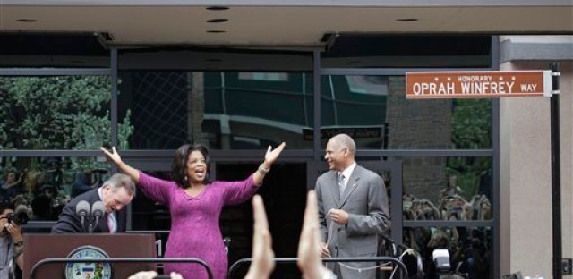 "The block of Harpo Studios in Chicago was named ""Oprah Winfrey Way"" to honor the talk show queen's legacy in May 2011."