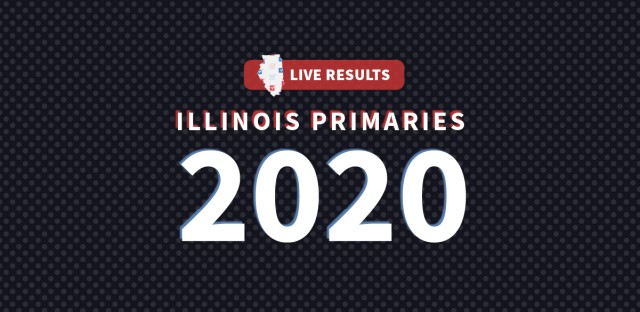 A graphic that reads 'live results Illinois primaries 2020'