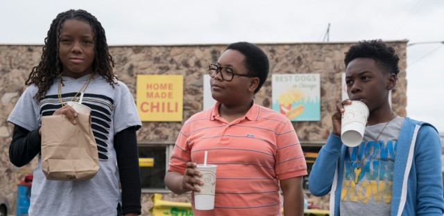 Michael Epps as Jake, Shamon Brown as Papa, and Alex Hibbert as Kevin.