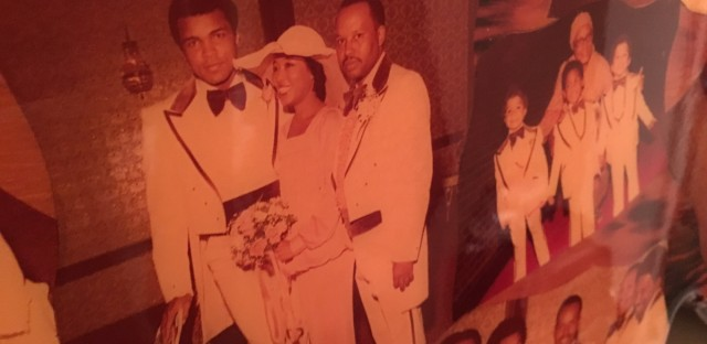 From L to R: Muhammad Ali, Belvon and her husband Cleve Walker