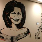 A mural of women in the hallway at Richard J. Daley College depicts two of the top choices to potentially rename the school after a woman of color: Former first lady Michelle Obama and Ellen Ochoa, the first Hispanic female astronaut.