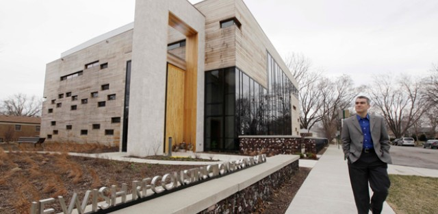 Rabbi Brant Rosen walks past the Jewish Reconstructionist Congregation synagogue in Evanston, Ill. Dr. Rachel Adler argues that Reconstructionist Judaism has proved a compelling theology for contemporary American Jews.