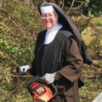 Sister Margaret Ann was spotted at work, chainsaw in hand, by an off-duty officer of the Miami-Dade Police Department.