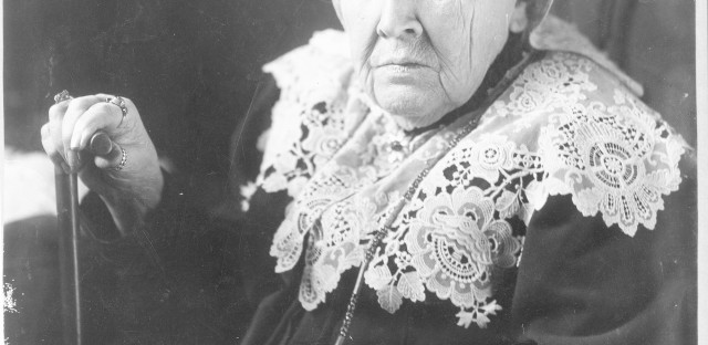 """Julia Ward Howe, seen here in 1908, the year she became the first woman elected to the American Academy of Arts and Letters. Her husband's death in 1876 had freed her to travel, give speeches, focus on the suffragist movement, and eat as she pleased, for the most part. """"Life is like a cup of tea — the sugar is all at the bottom,"""" she said in her later years."""