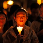 Thousands of people attend a candlelight vigil for victims of the Chinese government's brutal military crackdown three decades ago on protesters in Beijing's Tiananmen Square at Victoria Park in Hong Kong, Tuesday, June 4, 2019. Hong Kong is the only region under Beijing's jurisdiction that holds significant public commemorations of the 1989 crackdown and memorials for its victims. Hong Kong has a degree of freedom not seen on the mainland as a legacy of British rule that ended in 1997.