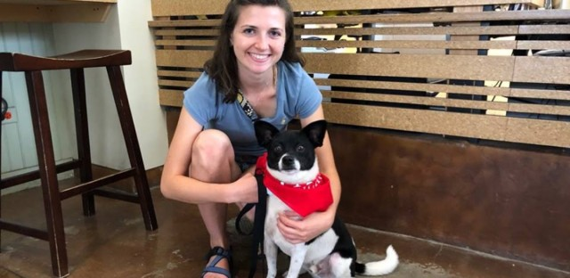 Ray, the adorable pup who appeared on Friday's Morning Shift, has found a forever home. Here he is with his new owner.