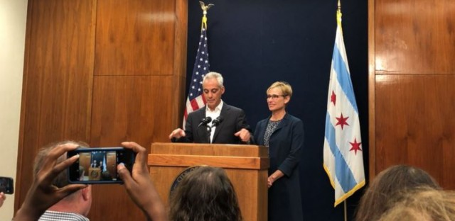Chicago Mayor Rahm Emanuel announces he will not seek re-election in 2019 mayoral election, September 4, 2018.