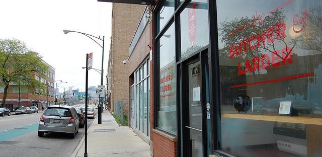 The Butcher & Larder storefront on Milwaukee Avenue