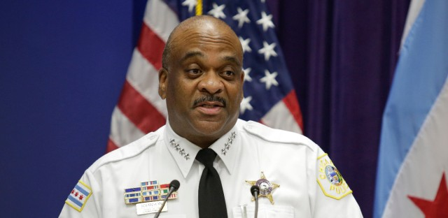 Chicago Police Superintendent Eddie Johnson speaks at a news conference on Aug. 23, 2017, in Chicago.
