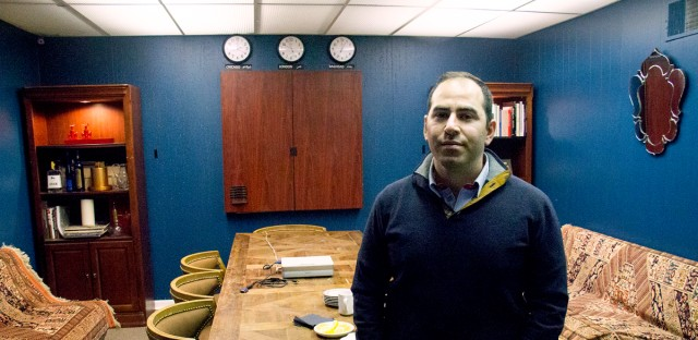 Rafid Hindo in his office in Chicago's River North neighborhood on Feb. 2, 2017.
