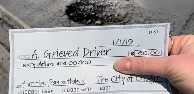 How Do You Get Reimbursed For Pothole Damage From The City