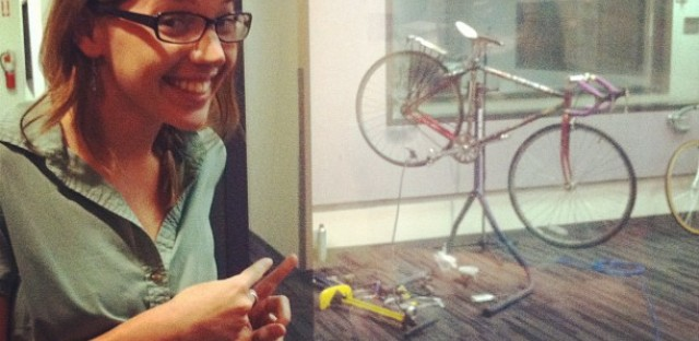 My bike makes its public radio debut with an on-air tune-up to help promote bike-to-work week.