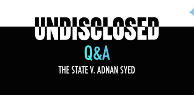 Undisclosed: The State Vs. Adnan Syed : audioBoom Q&A Pt.3: Rabia Chaudry Image