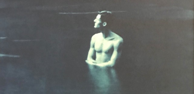 """John Dugdale's """"Self Portrait in Roundout Creek."""""""