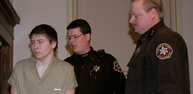"In a Friday, March 3, 2006 file photo, Brendan Dassey is escorted out of a Manitowoc County Circuit courtroom, in Manitowoc, Wis. A three-judge panel from the 7th Circuit on Thursday, June 22, 2017 affirmed that Dassey, a Wisconsin inmate featured in the Netflix series ""Making a Murderer"" was coerced into confessing and should be released from prison. Dassey was sentenced to life in prison in 2007 in photographer Teresa Halbach's death two years earlier."