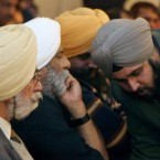 Sikhs of the United Sikhs advocacy group gather at a press conference in New Delhi, India, Friday, Jan. 25, 2008.