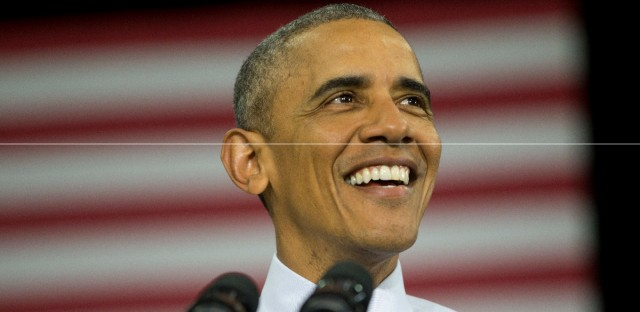 President Barack speaks at Concord Community High School in Elkhart, Ind. earlier this month.