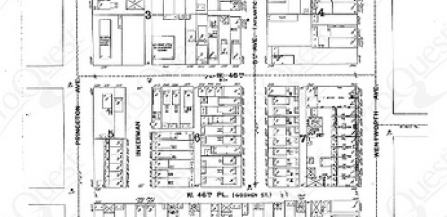 Sanborn map of 46th & Wentworth circa 1895. This area was demolished for the expressway.