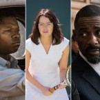 Left to right: Timothée Chalamet in Call Me by Your Name; Jason Mitchell in Mudbound; Emma Stone in Battle of the Sexes; and Idris Elba in Molly's Game.