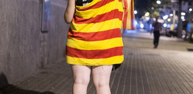The pro- independence movement in Catalonia