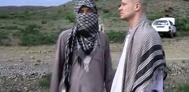 A video frame grab of Army Sgt. Bowe Bergdahl released by the Voice of Jihad website shows the soldier during his captivity.