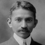A photograph of Gandhi in South Africa taken in 1909