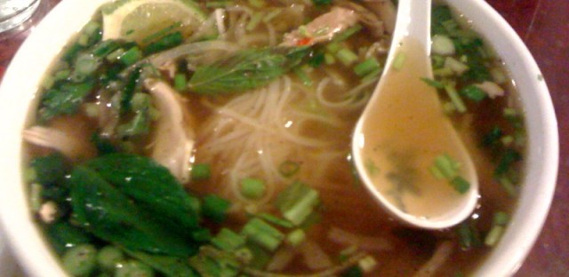Pho ga, or chicken pho, at Cafe Hoang (Samantha Rollins)