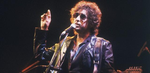 American singer Bob Dylan performs