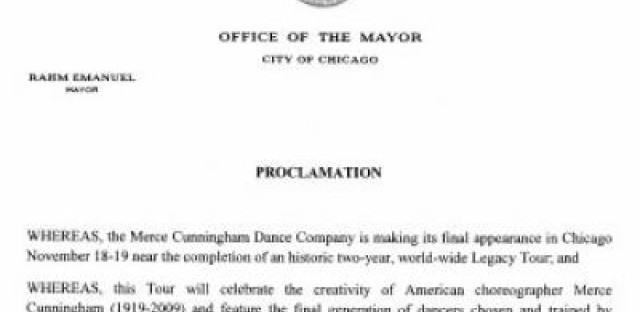 Daily Rehearsal: Emanuel makes a dance proclamation