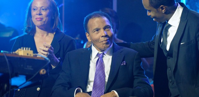 Boxing great Muhammad Ali, seen here in 2012, had been in the hospital since Thursday