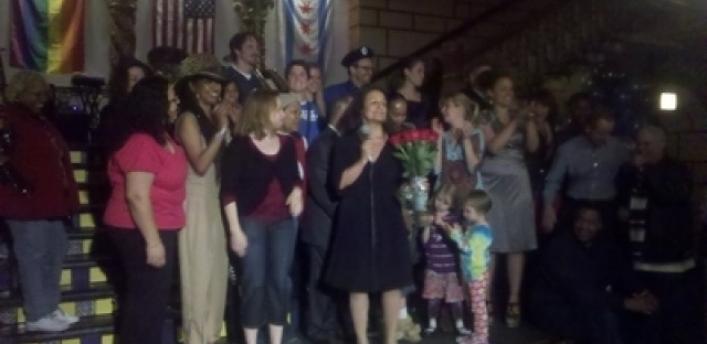 Helen Shiller of the 46th ward says farewell