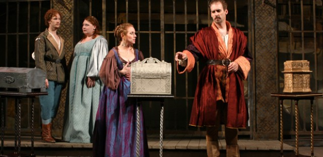 Young actors just out of school play six of the 19 roles in First Folio's 'Merchant of Venice.'