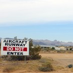Cal-Nev-Ari is known as a fly-in town. Lots of residents here are retired pilots who taxi their small planes from their homes to the mile-long dirt airstrip, which spans the length of the town.