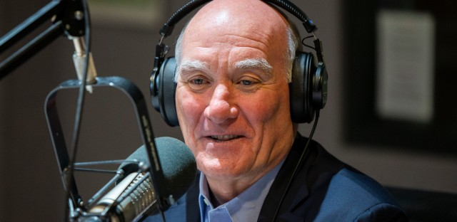 Bill Daley at WBEZ studios on Sept. 18, 2018.