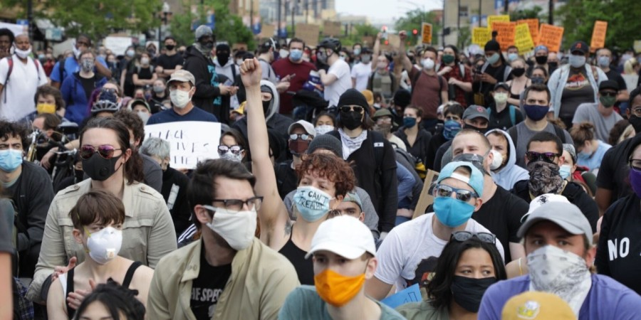 photo of protesters on the North Side